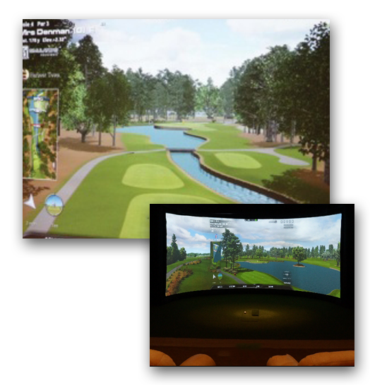 Play Indoor Golf at Avalon