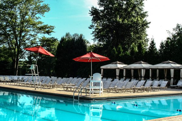 Pool Cabanas at Squaw Creek