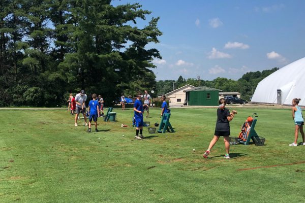 Kids camp golf