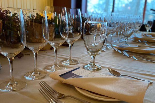 Wine Dinner Set Up